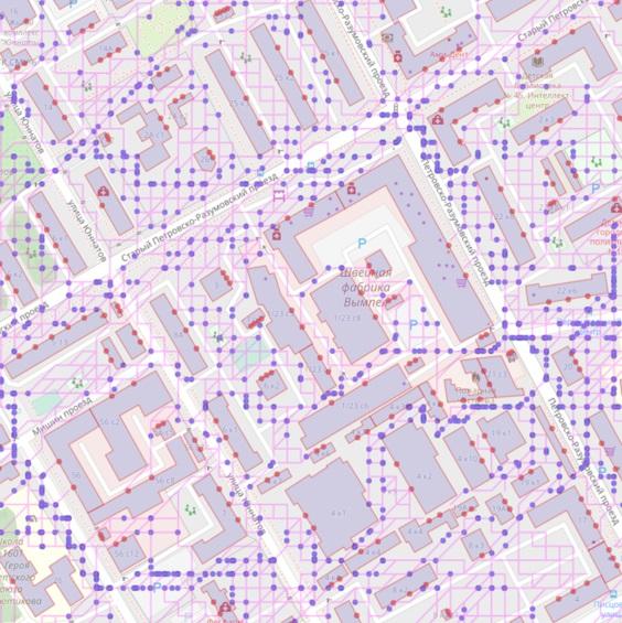Моделирование перемещений людей в городской среде (г. Москва)